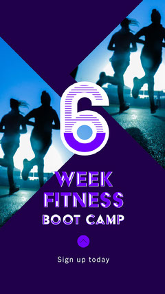 Purple Fitness Boot Camp Instagram Story  Camping