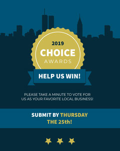 Blue and Green Choice Awards Event Promotion Voting