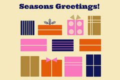 gift boxes seasons greetings card Gift Card