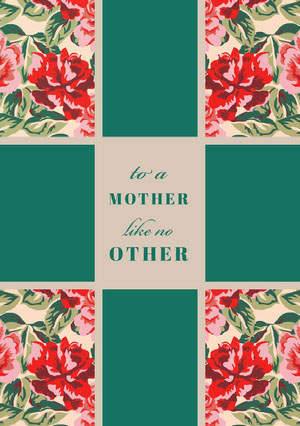 Green Floral Mothers Day Card Mother's Day Messages