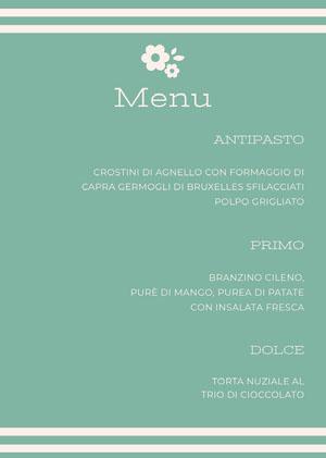 blue modern wedding menu Menu