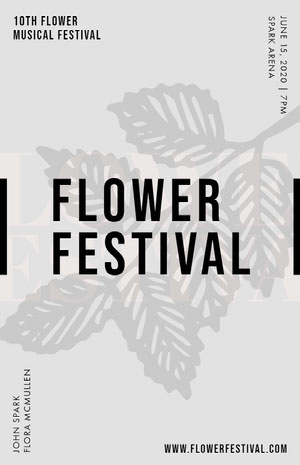 FLOWER FESTIVAL Concertposter