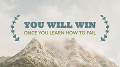 Motivational Quote Blog Post Graphic with Scenic Mountains Nature