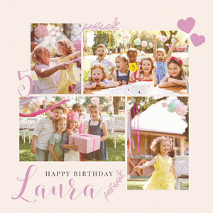 Laura Birthday Collage Instagram Square Birthday Photo Collage