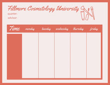 Orange Fillmore Cosmetology University Schedule 일정