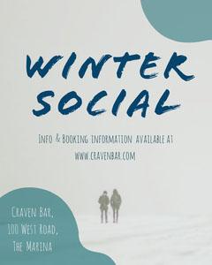 winter social snow scene igportrait  Winter