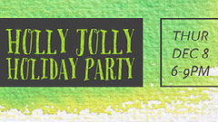 Holly Jolly Holiday Party Holiday Party Flyer