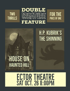Blue Double Movies Poster Scary