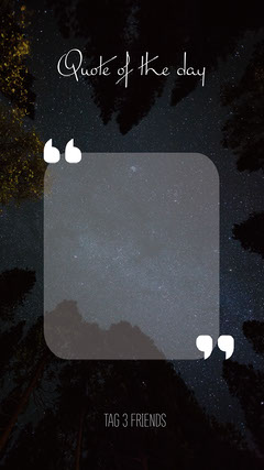 Night Sky Quote of the day Instagram Story Stars