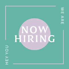 ig square Now Hiring Flyer
