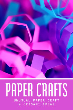 Pink And Purple Paper Crafts Pinterest Post Kids