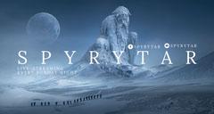 Blue Winter Fantasy Style Twitch Banner Adventure