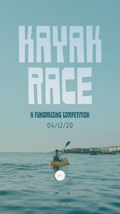 Blue Fundraising Kayak Race Competition Event Instagram Story  Fundraiser