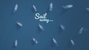 Blue Sail Away Wallpaper Desktop Wallpaper