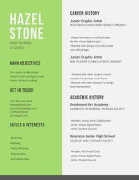 Hazel Stone  High School Resumes