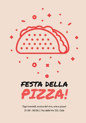 Festa della pizza! Invito a una festa