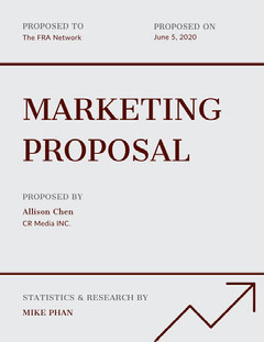 Black and White Marketing Business Proposal Marketing