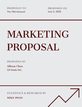 Black and White Marketing Business Proposal Proposal