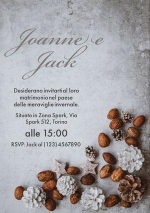 winter wonderland wedding invitations  Partecipazioni di matrimonio