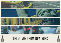 greetings from New York card  Vacation