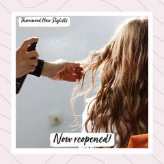 Pink Thornwood Hair Stylists IG Square Hair Salon