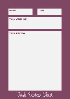 Purple Task Review Worksheet  Purple