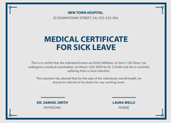 new town medical certificate  Health Posters