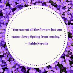 Springtime Quote Instagram Square  Spring