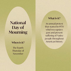 Green and Beige Geometric Gradient National Day of Mourning Social Post Thanksgiving