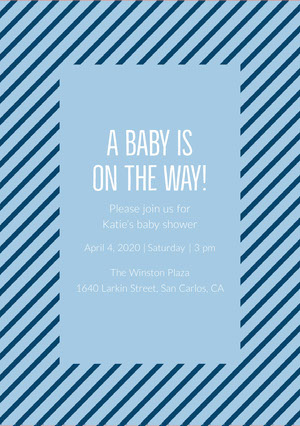 A baby is on the way! Baby Shower Thank You Card