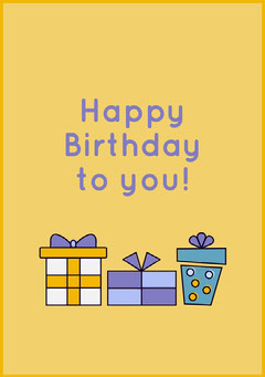 gifts birthday card Gift Card