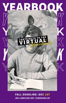 Purple Virtual Yearbook Poster School Posters
