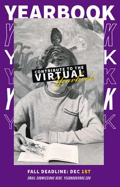 Purple Virtual Yearbook Poster Purple
