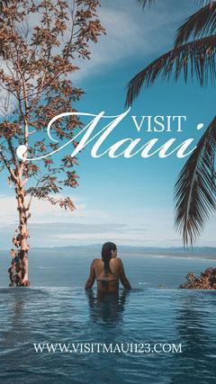 visit Maui Instagram story Vacation