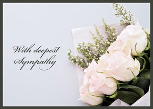 White and Grey With Deepest Sympathy Card Sympatikort