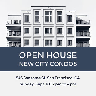 Open House New City Condos 電子邀請卡