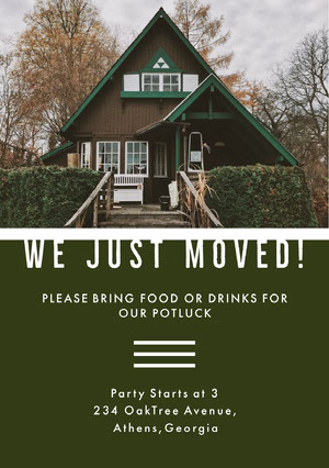 WE JUST MOVED! Housewarming Invitation