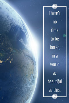 Motivational Pinterest Graphic with Earth in Outer Space Space
