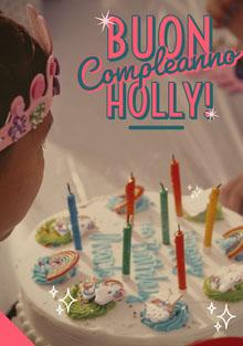 unicorn birthday cake birthday cards Biglietto di compleanno
