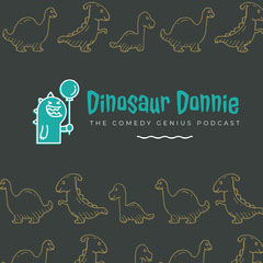 Blue and Grey Dinosaur Donnie Instagram Graphic Comedy