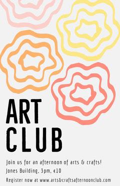 Multicolored School Art Club Flyer Crafts