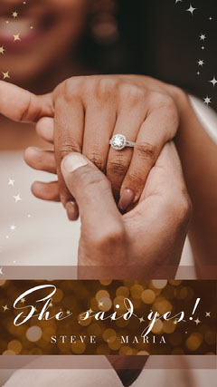 Brown and Gold and White Sparkles Engagement She Said Yes Snapchat Geofilter Stars