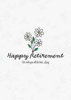 Daisy Floral Retirement Card Retirement
