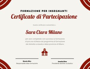 Certificato di Partecipazione  Certificato