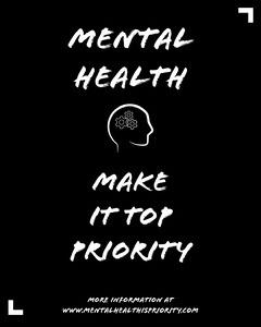 Black and White Mental Health Social Post Awareness