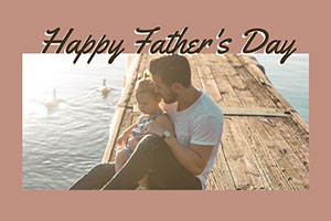 Brown Warm Toned Fathers Day Card Facebook Father's Day Messages