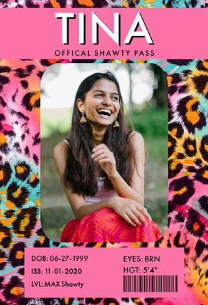 Colorful Cheetah Print Shawty Pass Shawty Pass
