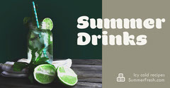 Summer Drink Recipe Facebook Post Graphic Cocktails