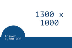 White and Blue Flashcard Math