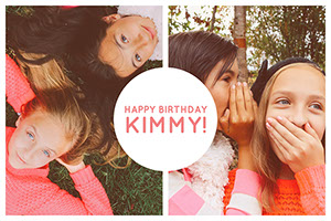 Happy Birthday Kimmy! Collage fotográfico de cumpleaños